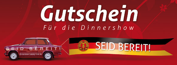 Erlebnisgeschenk Gutschein Für Dinnershow In Leipzig Halle